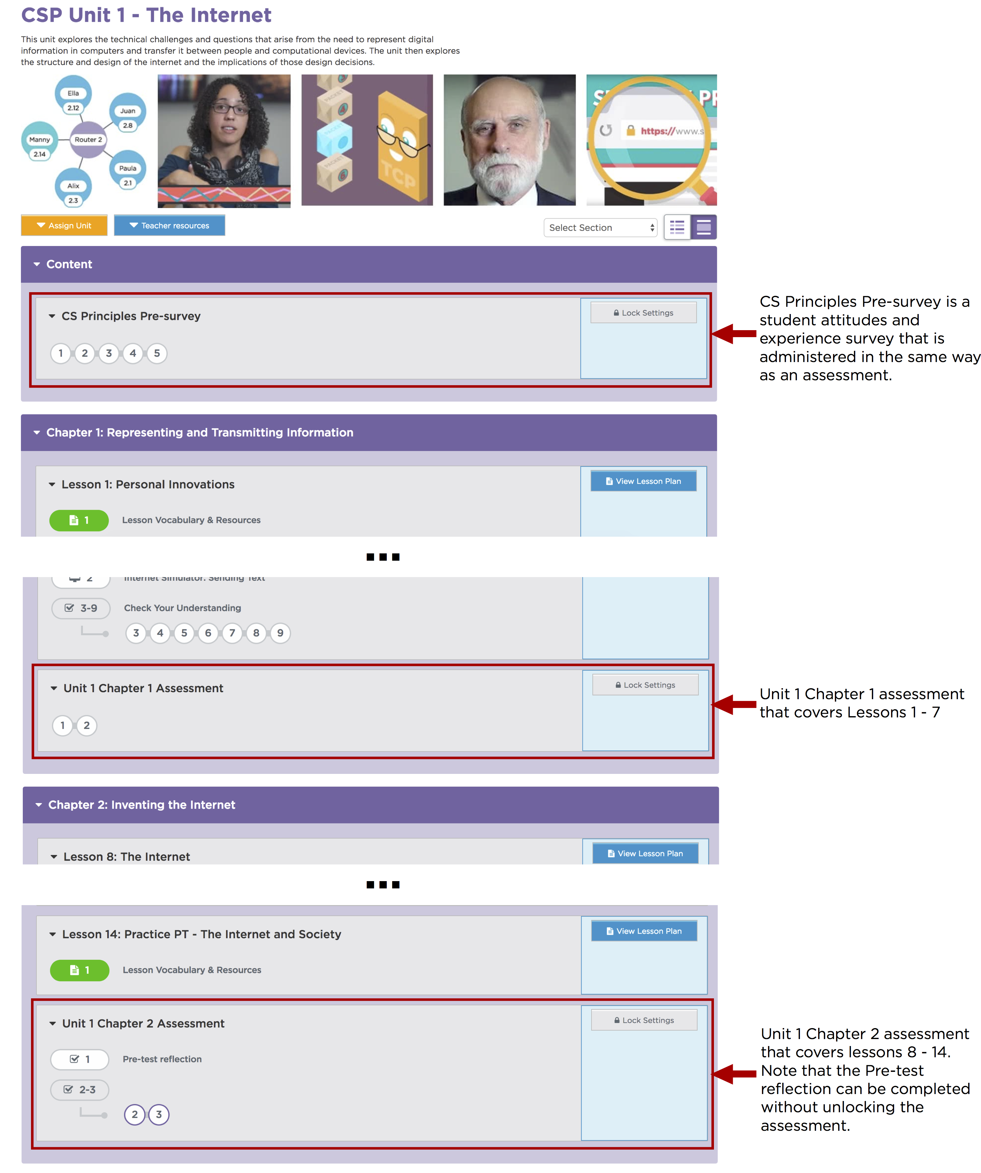 Using lock settings for assessments and surveys – Code org